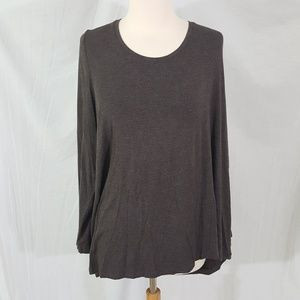 Michel Studio Long Sleeve Modern Tee Top 3X Plus